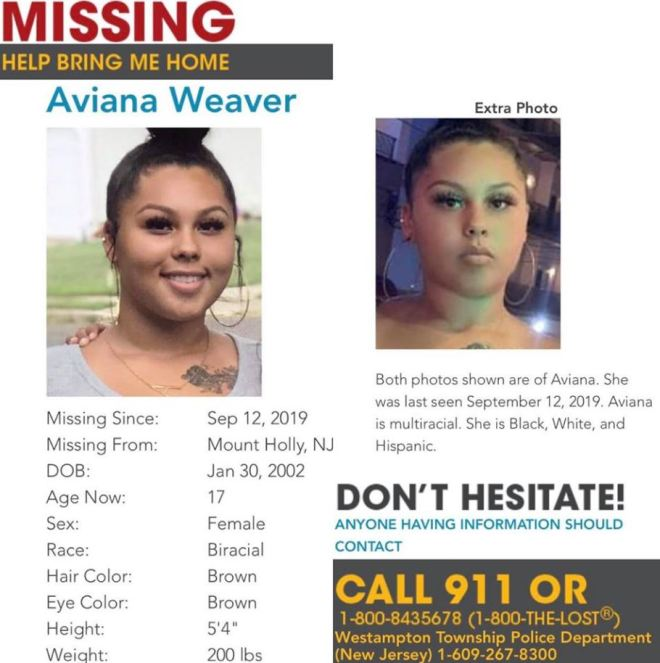 A missing person notice has been issued on social media