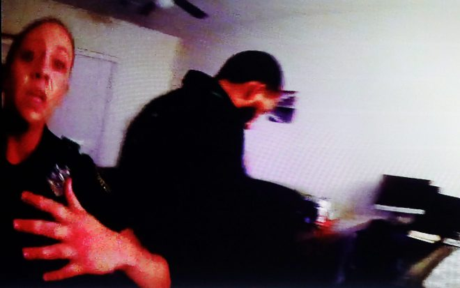 Amber Guyger seen on police bodycam just after the shooting