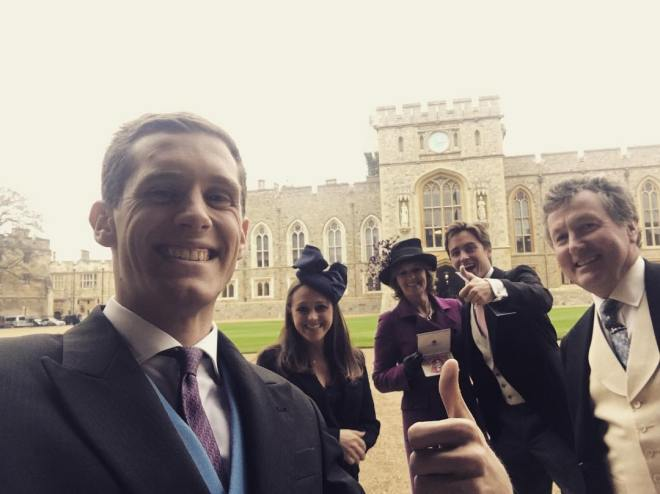 Edoardo at Windsor castle with his family back in December 2016