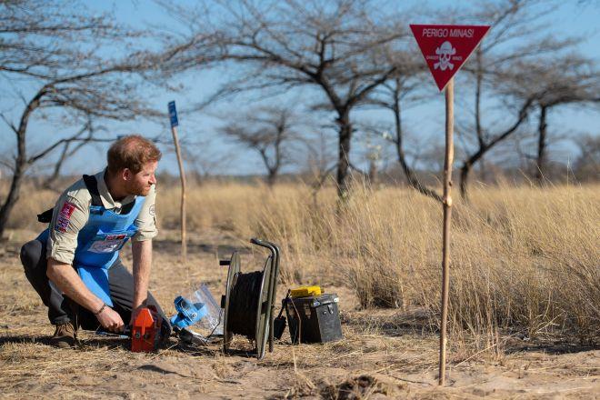 The prince detonated the landmine remotely