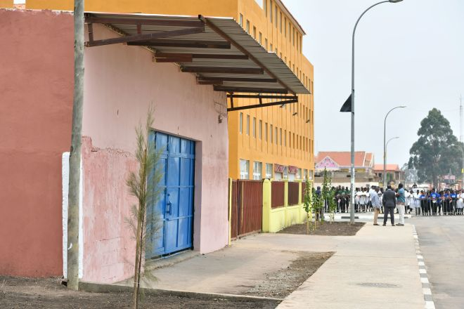 Princess Diana Street in Huambo, Angola, ahead of the arrival of the Duke of Suss
