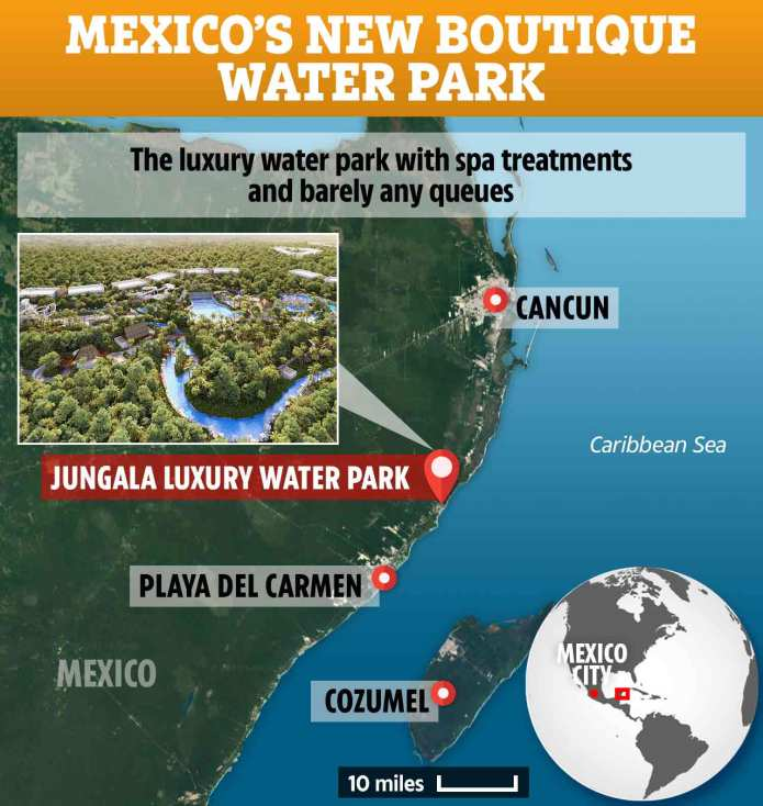 The park is less than an hour from Cancun