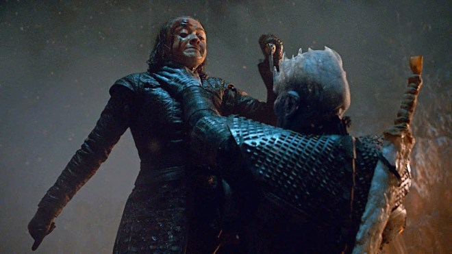 Arya strangled by Night King