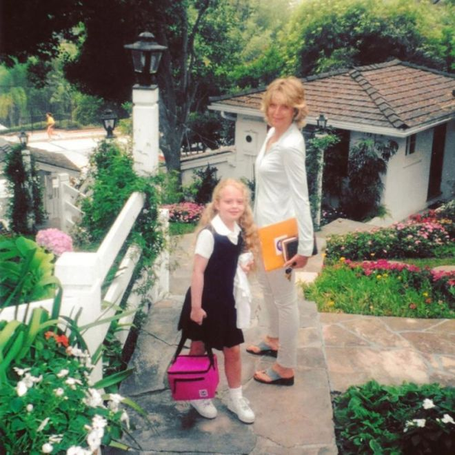 Marla Maples and Tiffany Trump on her first day at school