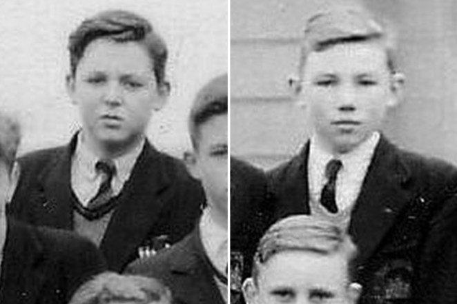 Yesterday... Paul McCartney shared this school photograph of him and Peter Sissons as Liverpool schoolboys
