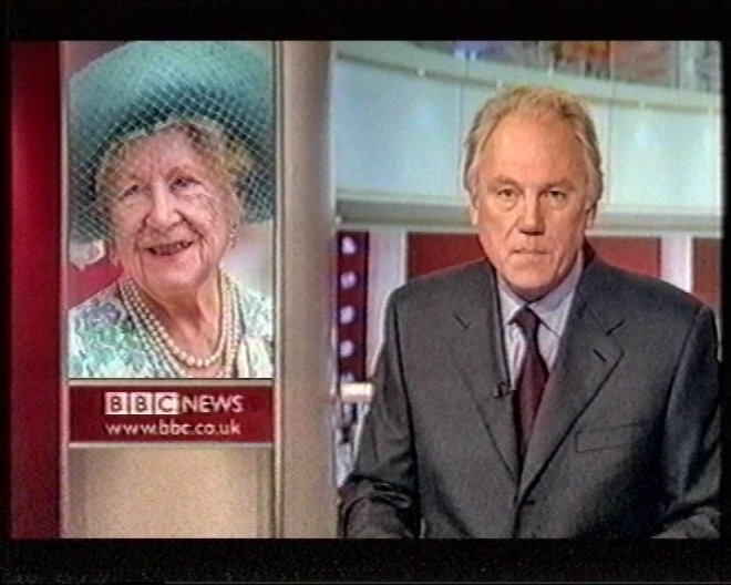 Sisson announced the news of the death of the Queen Mother in 2002