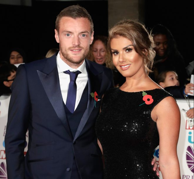 Jamie Vardy and wife Rebekah are now one of the most famous couples in football