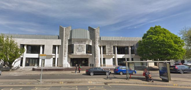 A father is on trial at Swansea Crown Court after denying 36 counts of rape, including one of procuring rape, and a count of assault by penetration