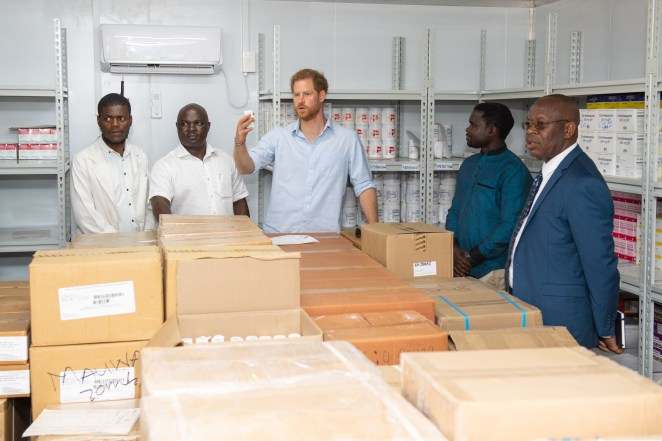 Harry had been visiting a health clinic in Malawi and was shown an air-conditioned storage facility for medicines