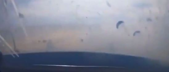 This is the moment debris goes flying in the car bombing