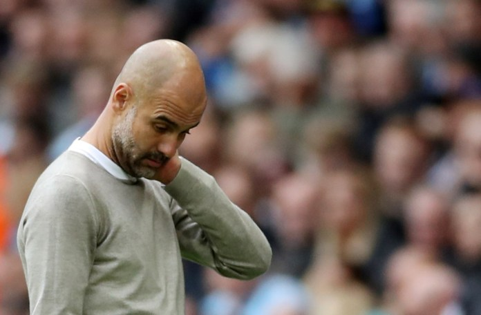 Pep Guardiola was in disbelief as his side let Liverpool open up an eight-point gap