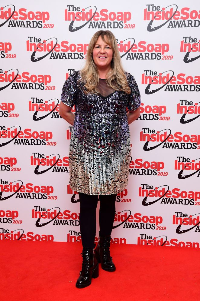 Lorraine Stanley opted for sequins for the evening