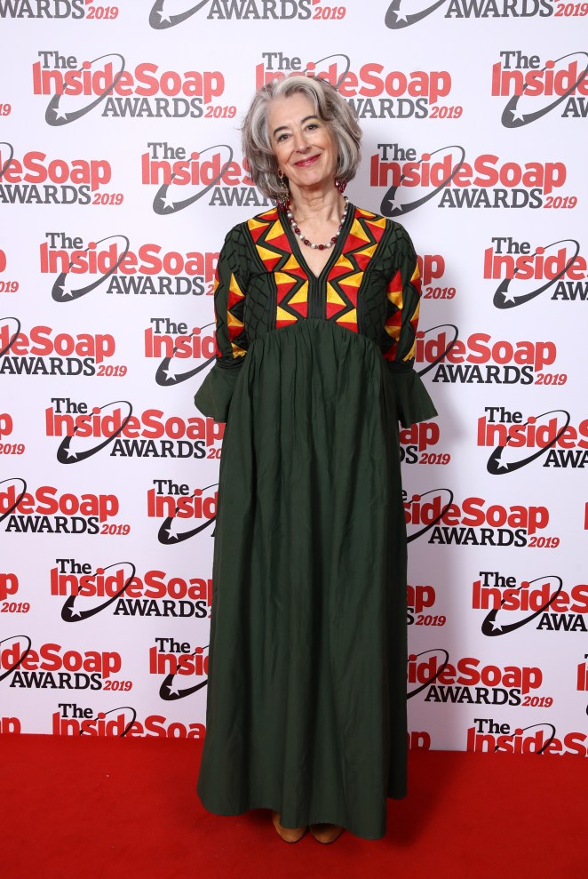 Maureen Lipman arrived in a colourful outfit