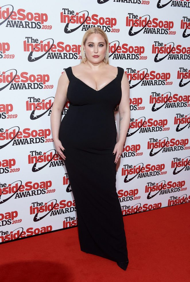 Hayley Hasselhoff opted for a chic black dress