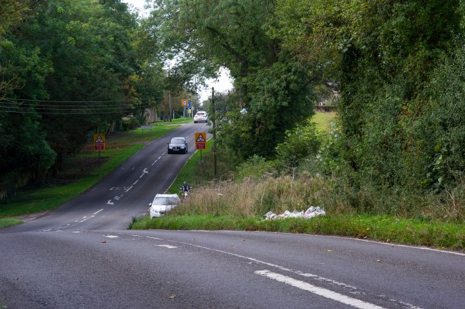 This is where the fatal crash happened - not far from RAF Croughton