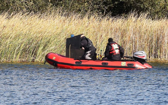 Specialist officers supported by a private underwater search team were at the Blue Lagoon investigating Leah Croucher's disappearance