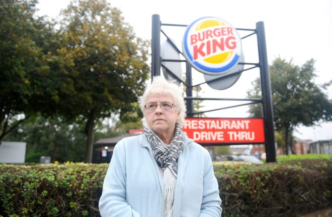 Susan Simms has been banned from Burger King after a row over ice-cream portions