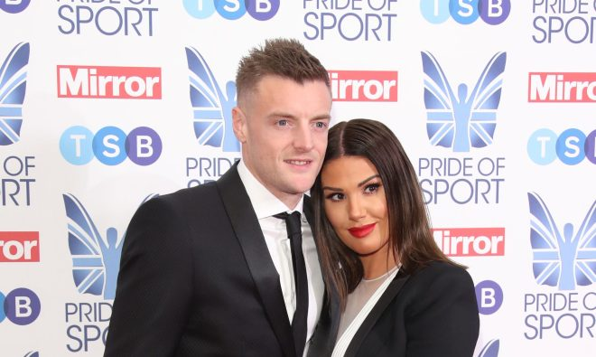 Jamie Vardy has shown his support for his wife Rebekah Vardy publicly