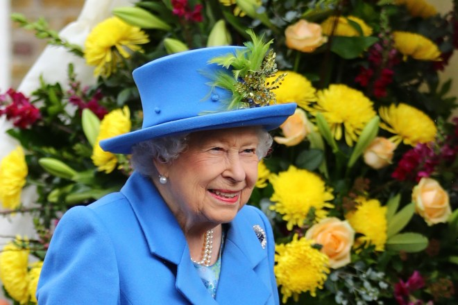 The Queen smiles as she headed to her first royal engagement since Balmoral today