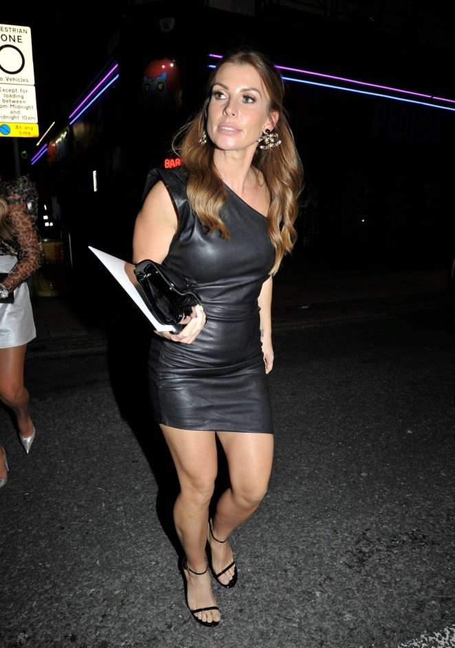 Coleen Rooney partied in Manchester last night following her bitter fallout with Rebekah Vardy