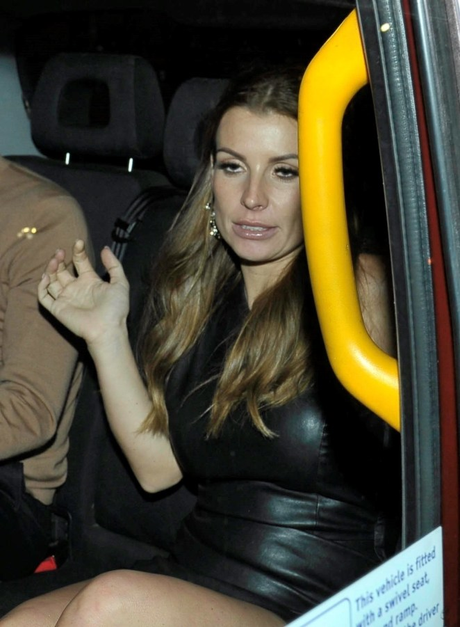Coleen Rooney heads home after night out at Wes Brown's birthday bash