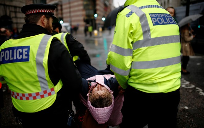 Police have warned protesters they will be arrested under a Section 40 Order for obstructing traffic
