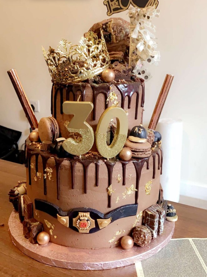 Joshua has massively slimmed down for the Ruiz rematch - but had an epic cake for his 30th