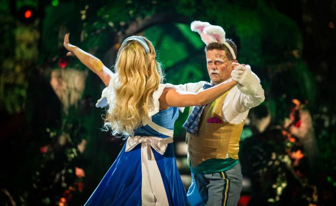 Mike and Katya danced a Tango to an Alice in Wonderland theme