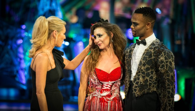 Strictly Come Dancing viewers were in tears tonight as Catherine Tyldesley was voted off by Shirley Ballas following a dance off against Mike Bushell