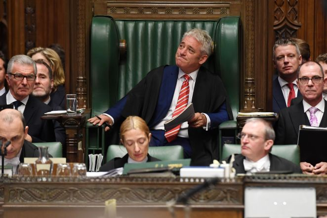 John Bercow was in the Speaker's chair for the final time in Prime Minister's Questions