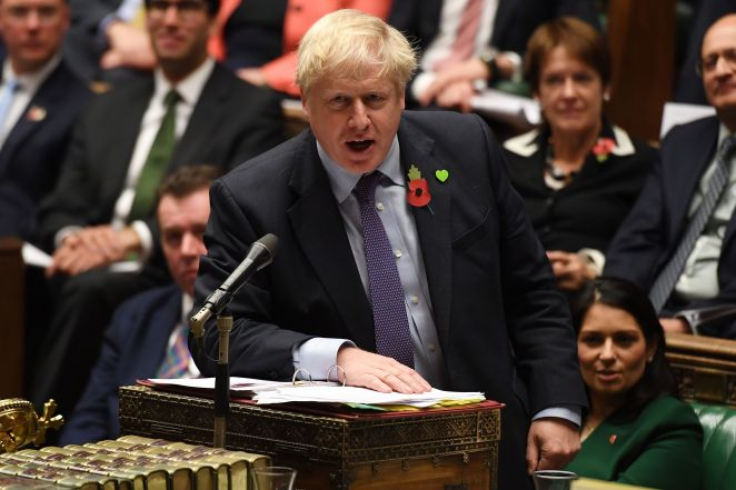 Boris Johnson in the House of Commons during Prime Minister's Questions