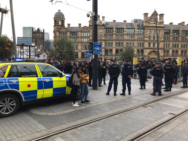 Police rushed to the scene in Arndale this afternoon