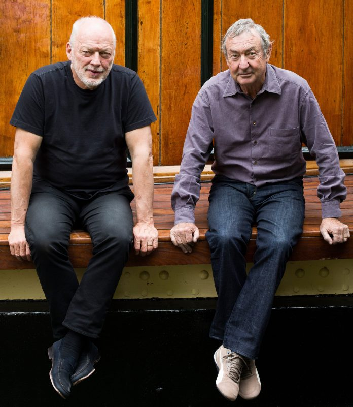 Gilmour and Mason in 2014, six years after Wright's death