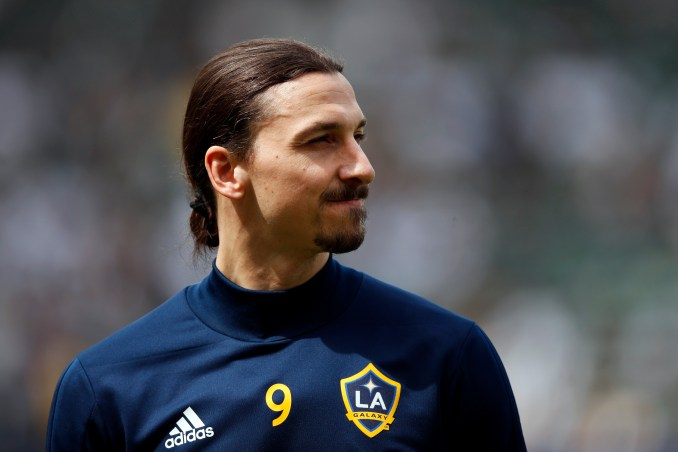 Zlatan Ibrahimovic appeared to reveal the identity of his new club with an Instagram post