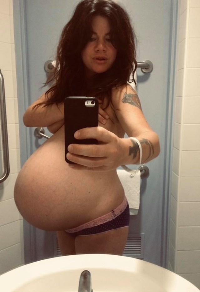 Constance posted a throwback of her pregnancy belly