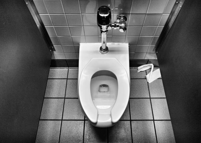 Many public toilet seats have a gap in the front