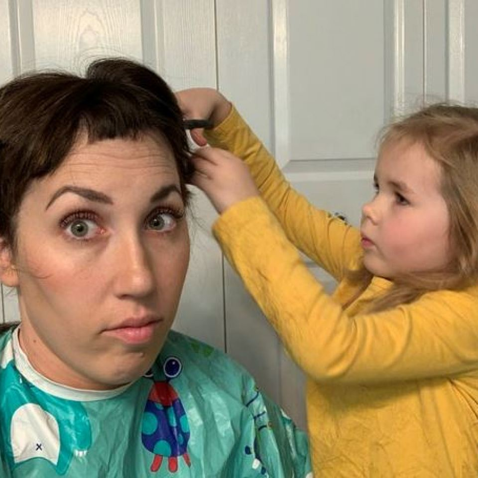 Emilie let her four-year-old daughter give her a radical new haircut