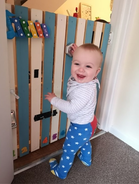 Dad Creates Amazing Interactive Stairgate To Stop Son From