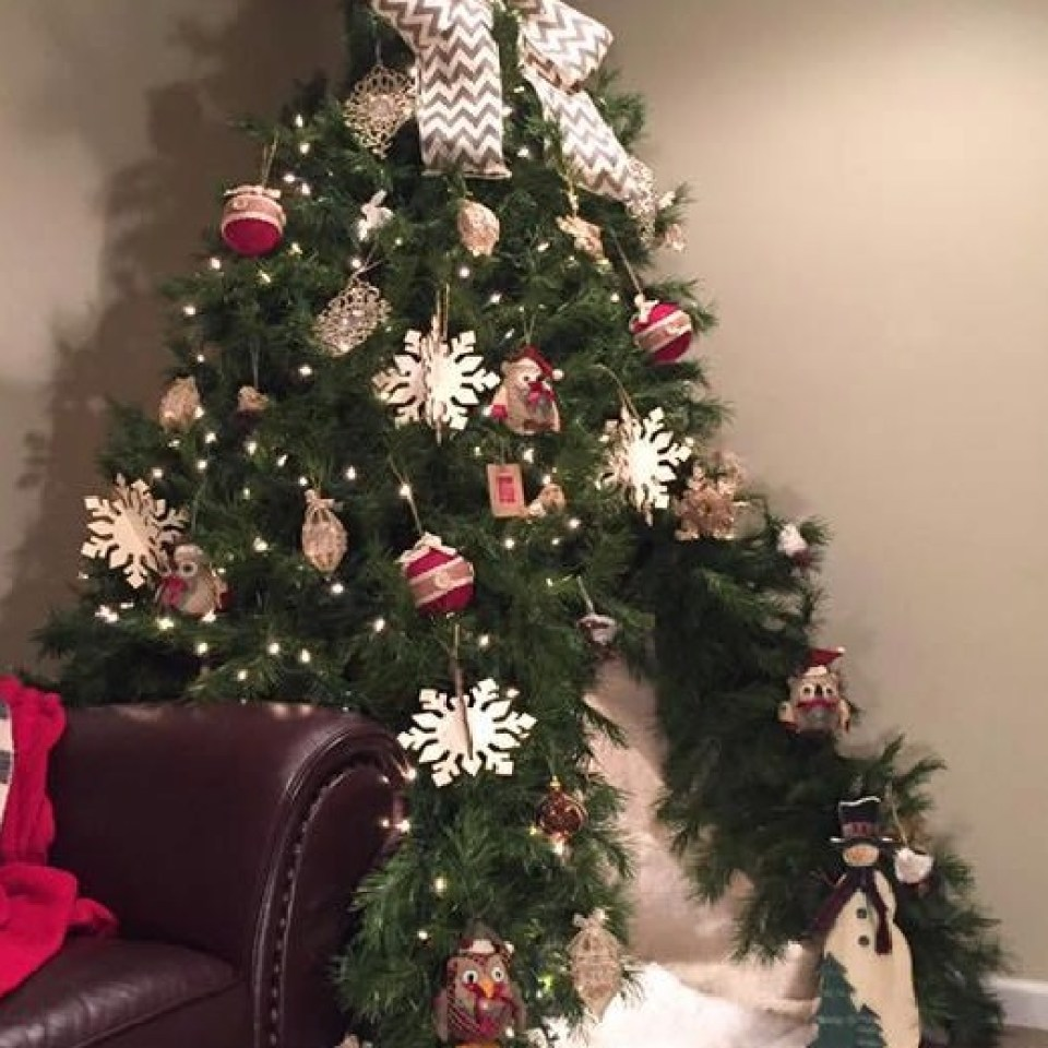 Mum impresses internet with Christmas tree TEEPEE that you can crawl inside