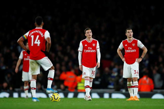 Arsenal lost 2-1 at home to Brighton to make it nine games without a victory in all competitions