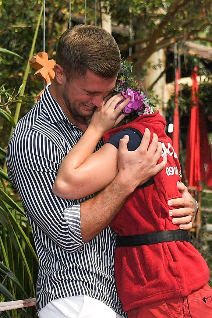 Jacqueline had a tearful reunion with Dan after winning the show