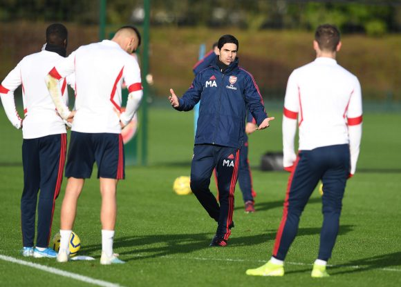 Mikel Arteta takes first Arsenal training session, and even moody ...