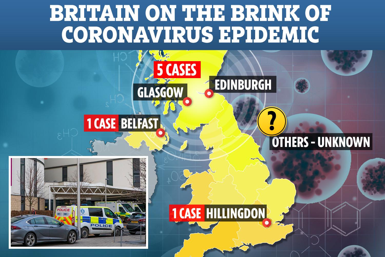 Coronavirus map shows suspected cases spreading across the UK ...