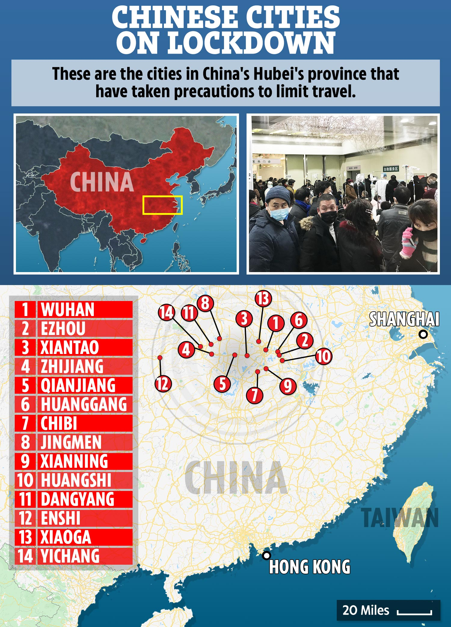 Coronavirus – 41 million quarantined in 14 cities as China closes ...
