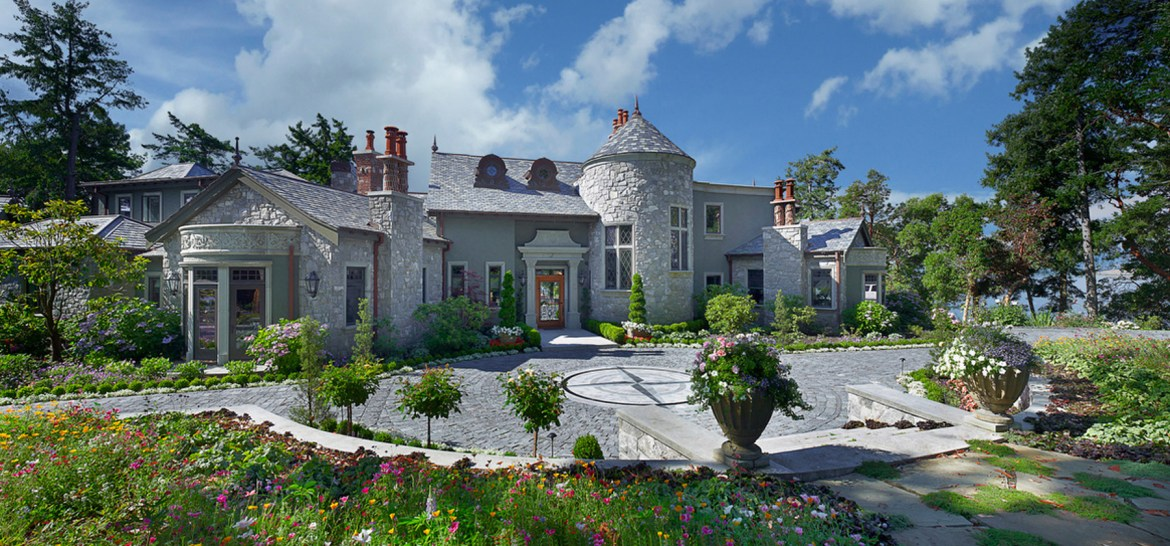 The mansion was purchased in 2014 and registered under a local country club to protect the owner's identity