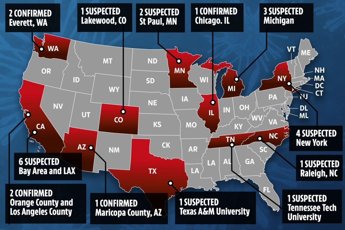 Coronavirus tests on 110 patients across 26 US states as five ...
