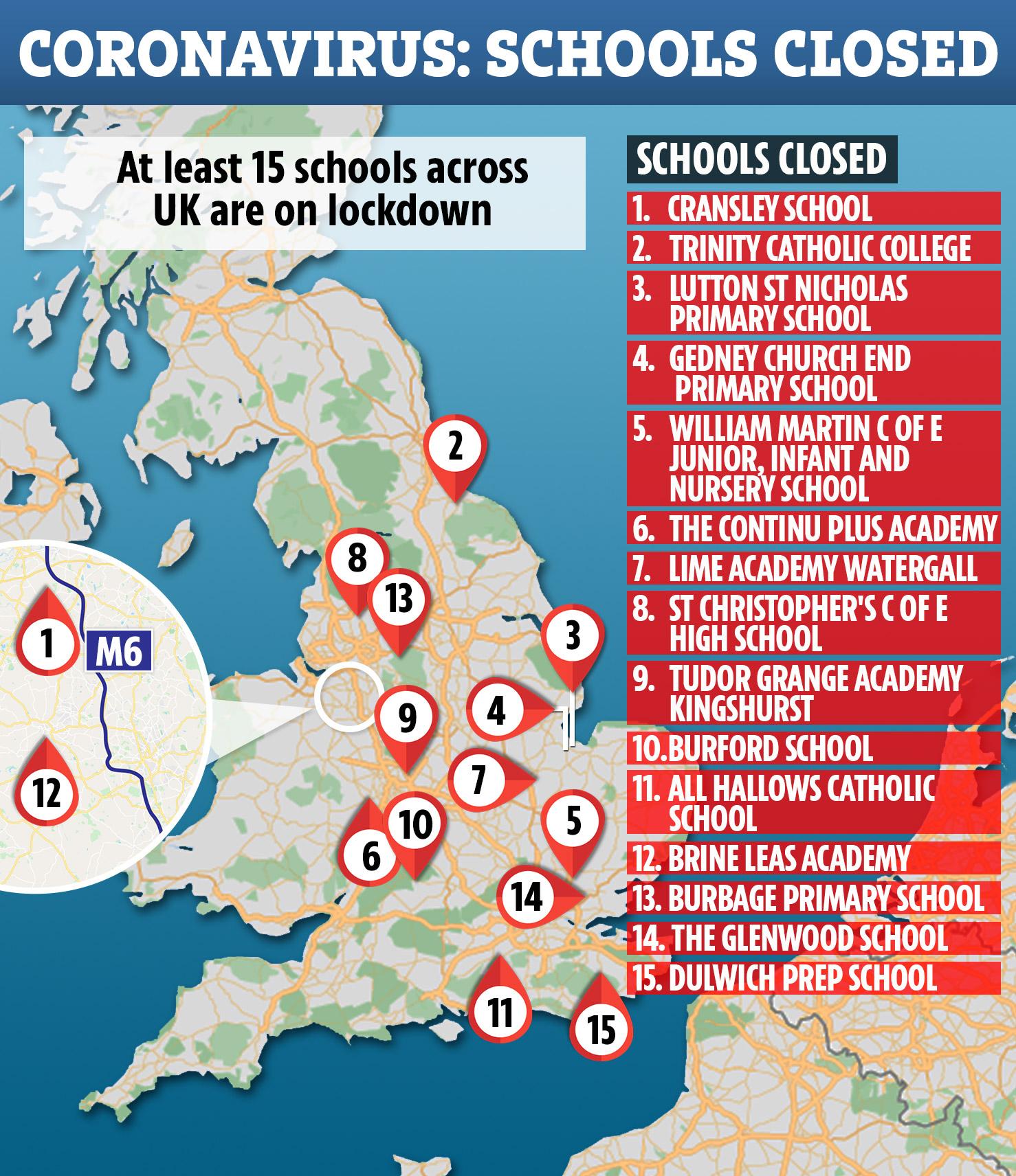 FORTY schools in coronavirus lockdown as emergency plans could see ...