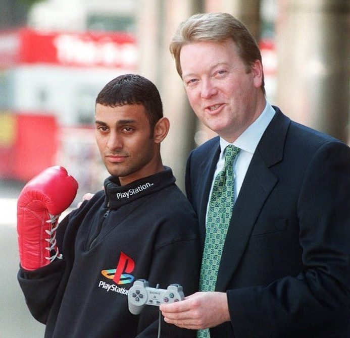 Warren had built up quite the reputation in boxing, looking after superstar clients like Prince Naseem Hamed
