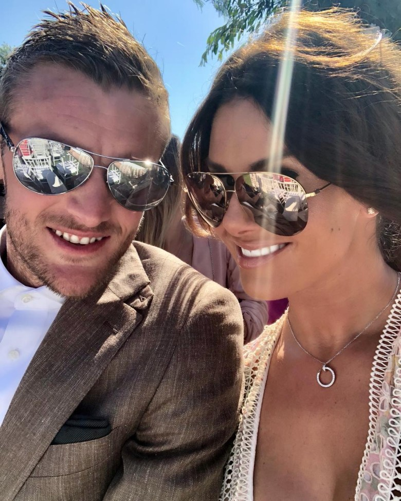 Rebekah was on holiday with husband Jamie when Coleen's post went live