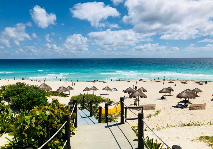 Mexico is popular with tourists, particularly to Tulum and Cancun